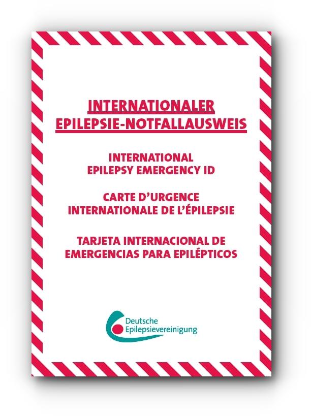 Notfallkarte der Deutschen Epilepsievereinigung, Internationaler Notfallausweis für Menschen mit Epilepsie