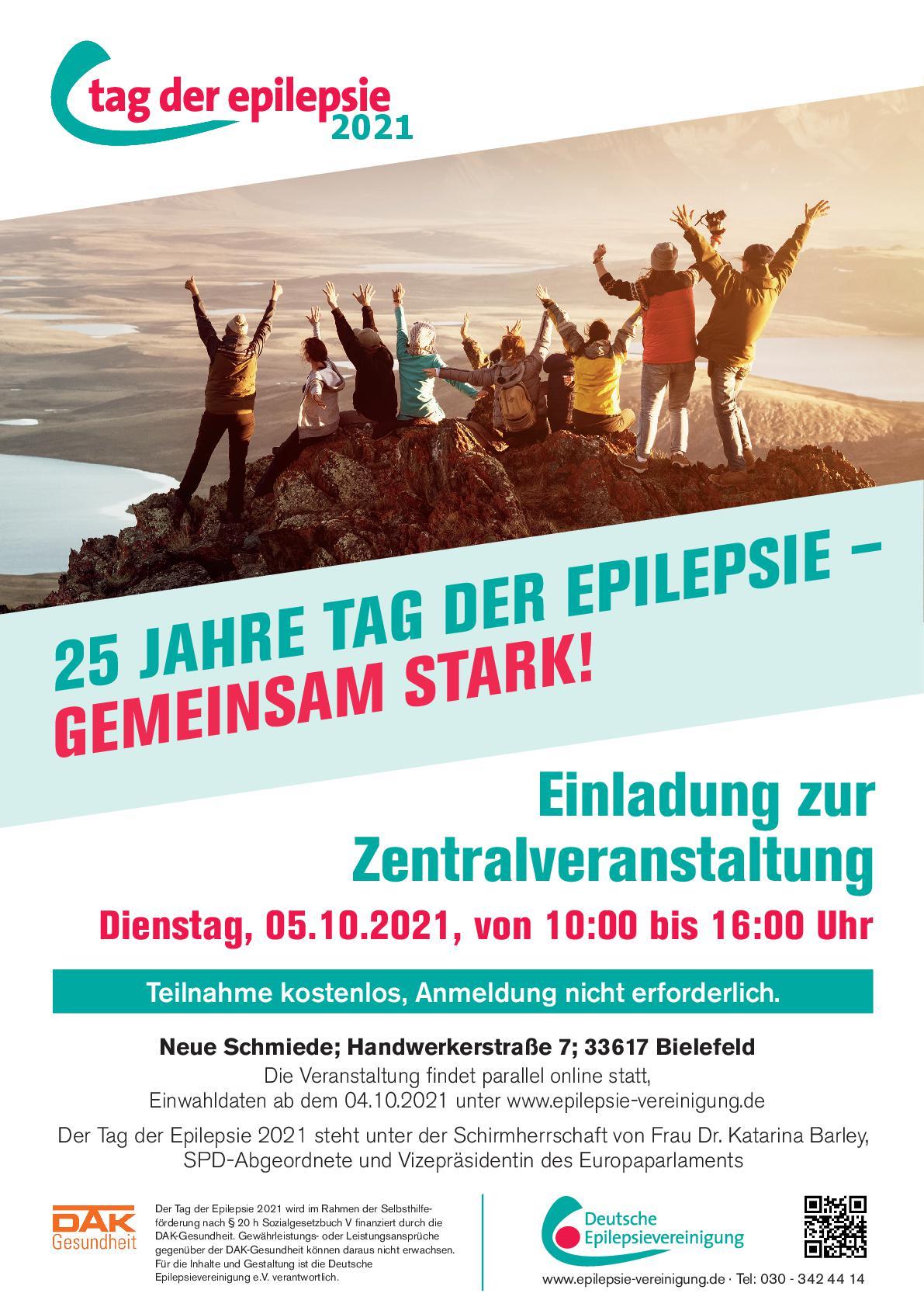 Plakat Tag der Epilepsie